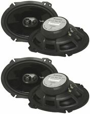 "2 Pairs Of Rockford Fosgate P1683 130W 6""x8"" 3-Way Car Stereo Speakers 6x8 Punch"