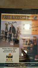 Purdue Boilermaker Basketball Autographed poster Gene Keady Lori Dunn