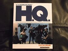 Command HQ (PC, 1990) Microplay Software. Big Box version Complete.  Very Good