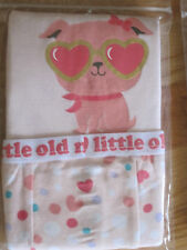Baby girl OLD NAVY PUPPY DOG HEARTS DOTS pajamas PJs sleepwear NWT 6m 9m 12m