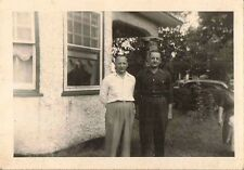Antique Vintage Photograph Two Men Standing In Front of the House