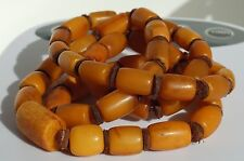 Antique baltic sea amber necklace, bracelet 25 grams. 我的微信amber7771988