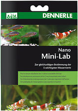 DENNERLE Nano mini-lab 5in1 ACQUA STRISCE PER TEST PH NO2 NO3 GH KH