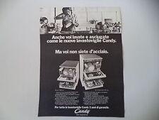advertising Pubblicità 1972 LAVASTOVIGLIE CANDY C 184 INOX/STIPOMATIC 10/5