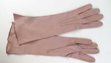 Vintage Real Kid Leather Gloves Womens Beige Buff Custom Hand Made Size Small