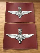 2 LARGE MILITARY LAND ROVER PARACHUTE REGIMENT Decals