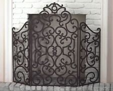 "FIREPLACE SCREENS - ""BARCELONA"" FIREPLACE SCREEN - OLD WORLD FINISH"