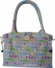 Damen Handtasche Henkeltasche Schultertasche Baumwolle Elefanten Tasche 10512