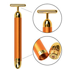 Energy Beauty Bar 24K Pulse Skin Care Gold Facial Roller Vibration Face Massager
