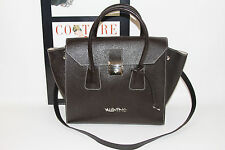 VALENTINO BAGS BY MARIO VALENTINO BROWN NELLA LEATHER SATCHEL     MSRP$895+