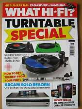 What Hi-Fi August 2016 Turntable Special Lenco L-85 Rega Planar 2 Arcam Solo