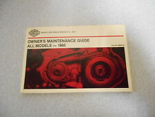 Harley-Davidson all models 1985 Fahrerhandbuch owner`s maintenance guide