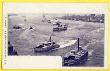 Post card photo J. Koehler USA NEW YORK View from EAST RIVER BRIDGE Steam Ferry