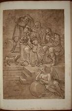 Francesco Bartolozzi Carracci old print stampa antica Fortuna allegoria Fortune