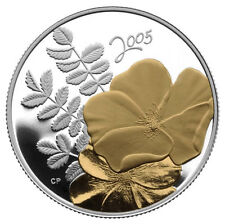 2005 50-Cents Golden Rose Gold-Plating Silver Coin