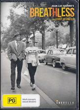BREATHLESS - JEAN-LUC GODARD -  NEW & SEALED R4 DVD FREE LOCAL POST