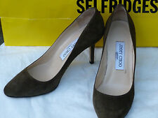 Jimmy Choo ladies shoes size 4.5/37.5/khaki/suede/heel/sapatos/RRP£355