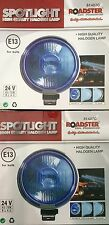 "ANGEL EYE BLUE PAIR 24V CAR 2X 9"" CHROME SPOTLIGHTS 4X4 BOAT SPOT LIGHTS TRUCK"