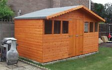 16FT X 10FT GARDEN SHED/SUMMER HOUSE WITH +1FT OVERHANG HIGH QUALITY TIMBER