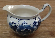 Creamer Pitcher White Floral Royal Goedewaagen Blue Delft Handwork Holland Dutch