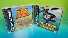 Action Bass & Big Bass Fishing - Playstation 1 2 PS1 PS2 Rare Games Complete