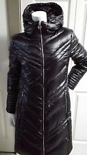 EW MICHAEL KORS BLACK PUFFER DOWN LONG COAT WITH HOOD SIZE M