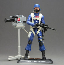 W73 G.I.JOE 50th ANNIVERSARY COBRA PARATROOPER WITH STUDIO VIDEO CAMERA