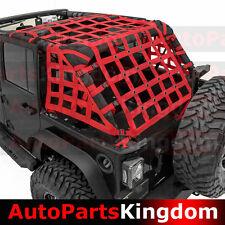07-17 Jeep Wrangler JK Off Road 4 Door RED Cargo Net System Restraint Net 4x4