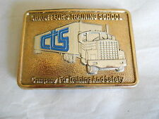 Vintage Chauffeur's Training School CTS Truck Driver Belt Buckle