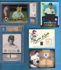 BABE RUTH MICKEY MANTLE Lou Gehrig GAME USED BAT REGGIE JACKSON RON JERSEY CARD
