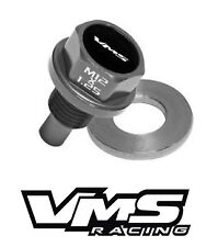 VMS HONDA ACURA MAGNETIC OIL PAN DRAIN PLUG BOLT KIT W/ CRUSH WASHER - GUNMETAL