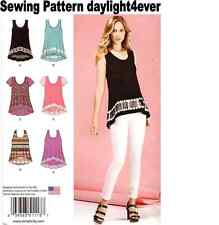 Women Easy-To-Sew Knit Tops Simplicity Sewing Pattern 1113 New XXS-XXL
