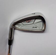 Left Handed Polished Mizuno T Zoid Sure 4 Iron Gold Plus R400 Steel Shaft