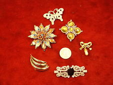 #5 of 6, LOT OF COSTUME JEWELRY/BROOCHES, GREEN/PURPLE MONET, RED/BLUE, 'PEARL'