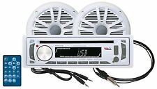 "Boss MR648UA Marine CD/AM/FM/USB/SD Receiver+6.5"" Speakers+Aux Cable+Antenna"