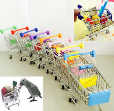 Parrot Bird Mini Supermarket Shopping Cart Intelligence Growth Training Kids Toy