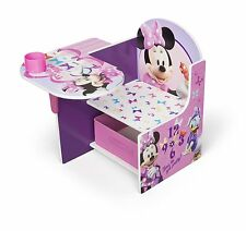 Delta Minnie Mouse Desk with Chair and Toy Storage Bin Box Organizer NEW NIB