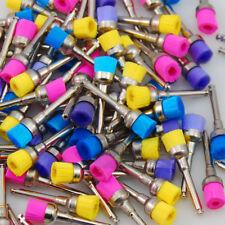 100 Pcs Dental Color Nylon latch flat Polishing Polisher Prophy Brushes NEW
