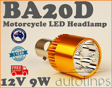 BA20D LED CREE 12V - 80V 9W Motorcycle Bike Headlight 3 Beads Claw Bulb Globe