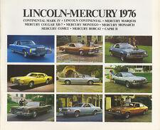 1976 Lincoln-Mercury FL Brochure Mark IV/Cougar XR-7+++