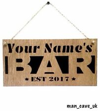 Personalised Custom Wooden Sign, Bar , Man Cave, Home Bar, Pub, Garden, Gift