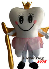 Deluxe Tooth Queen Mascot Costume Tooth Dentist Costume Free Shipping