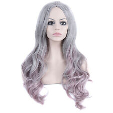 Long Wig Synthetic Wigs Lace Front Wig Synthetic Cosplay Wig Pink Wigs Gray Wig