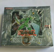 Yugioh Enemy Of Justice English Booster Box  24ct. RARE Unlimited English Rare