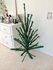RARE VINTAGE ARTIFICIAL CHRISTMAS TREE WOOD TRUNK/POLE  BRANCHES 4 FT 1950s