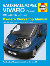 HAYNES WORKSHOP REPAIR OWNERS MANUAL VAUXHALL OPEL VIVARO DIESEL 01 - 11 Y-11