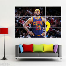 Superstar LeBron James Poster Large Print Wall Art Room Decor