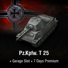 World of Tanks | WoT | Bonus Code | T-25 | Pz.Kpfw. T 25 + 7 Days Premium