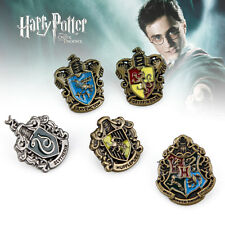 1 Set of 5 pcs Movie Harry Potter Hogwarts House Metall Pin Badge In Box Gift