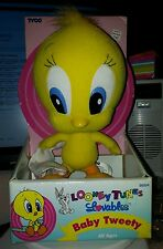 "Looney Tunes Loveables Baby Tweety Bird 8"" Plush Tyco 1996 NEW in original Box"